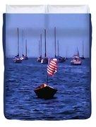 Leader Of The Pack- Bristol Rhode Island Oil Effect Duvet Cover