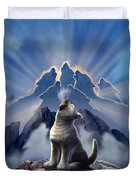 Leader Of The Pack Duvet Cover by Jerry LoFaro