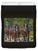 Leading The Way-budweiser Clydesdales Duvet Cover