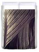 Leaf Abstract  24  Sepia   Duvet Cover