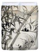 Leaf C Duvet Cover by Rang Tian