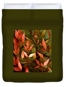 Leaf Collage Photo Duvet Cover