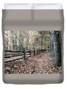 Leaf Covered Trail Duvet Cover