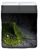 Leaf Droplets Duvet Cover