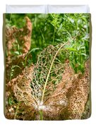 Leaf Eaten By Insects Duvet Cover