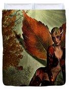 Leaf Elf Duvet Cover