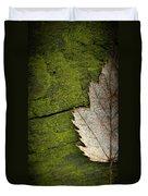Leaf On Green Wood Duvet Cover