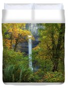 Leaf Peeping And Waterfall Duvet Cover
