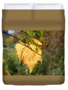 Leaf Shadows And Light Duvet Cover