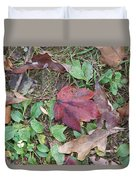 Leaf Standing Out In A Crowd Duvet Cover