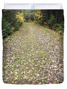Leaf-strewn Trail Duvet Cover