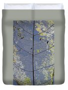 Leaf Structure Duvet Cover by Debbie Cundy