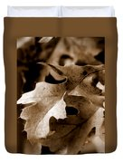 Leaf Study In Sepia IIi Duvet Cover