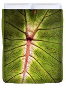 Leaf With Veins Duvet Cover