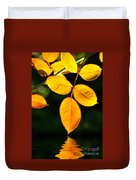 Leafs Over Water Duvet Cover by Carlos Caetano