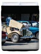 Leander Texas Car Show Viewing Duvet Cover