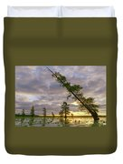 Leaning Cypress Duvet Cover
