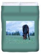 Leaning Horse Duvet Cover
