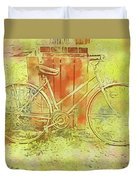 Leaning In Bicycle Duvet Cover