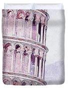 Leaning Tower Of Pisa - 03 Duvet Cover