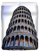 Leaning Tower Of Pisa In Tuscany, Italy Duvet Cover