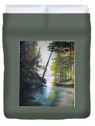 Leaning Tree Lake George Duvet Cover