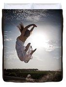 Leaping For The Sun Duvet Cover