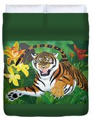 Leaping Tiger Duvet Cover