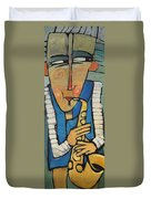 Learn To Work The Saxophone Duvet Cover