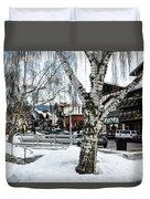 Leavenworth Lights Remain Duvet Cover