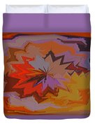 Leaves Abstract - Autumn Motif Duvet Cover