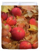 Leaves And Apples Duvet Cover