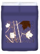 Leaves And Rain 2 Duvet Cover
