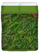 Leaves By The Way Duvet Cover