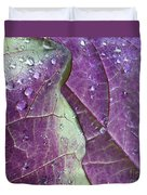 Leaves, Color,  And Dew Duvet Cover