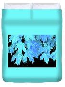 Leaves In Blue Duvet Cover