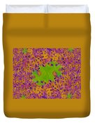 Leaves In Fractal 2 Duvet Cover