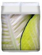 Leaves In White Duvet Cover
