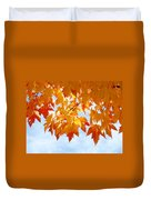 Leaves Nature Art Orange Autumn Tree Leaves Duvet Cover