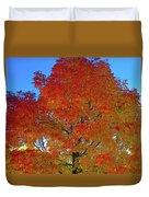 Leaves Of Fire Duvet Cover