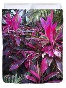 Leaves Of Pink Duvet Cover