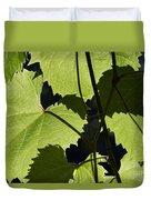 Leaves Of Wine Grape Duvet Cover