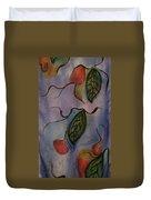 Leaves On Silk Duvet Cover