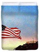Leaving Alcatraz Duvet Cover