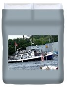 Leaving Harbor Duvet Cover
