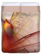 Leaving Marks Abstract Art Duvet Cover