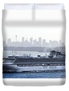 Diamond Princess Leaving Sydney Duvet Cover