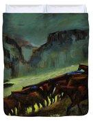 Leaving The Mesa Duvet Cover