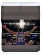 Lebron James Chalk Toss Basketball Art Landscape Painting Duvet Cover