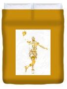 Lebron James Cleveland Cavaliers Pixel Art 12 Duvet Cover